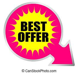 Best offer sticker