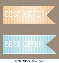 Best Offer Vector Icon Design