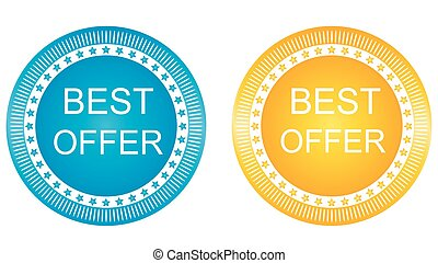 Best Offer Vector Icon Design