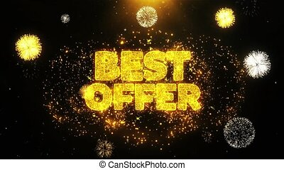Best Offer Wishes Greetings card, Invitation, Celebration Firework Looped