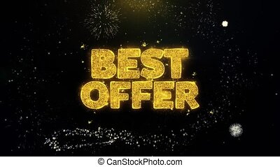 Best Offer Written Gold Particles Exploding Fireworks...