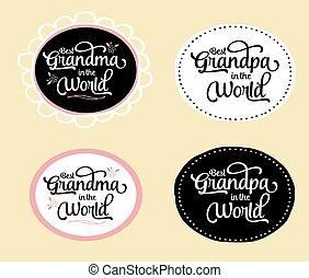 best, oma, en, opa, in, de wereld