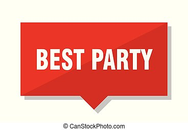 best party red tag