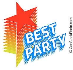BEST PARTY sticker