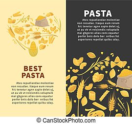 Best pasta made of organic ingredients promotional posters