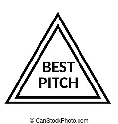 BEST PITCH stamp on white background. Signs and symbols...