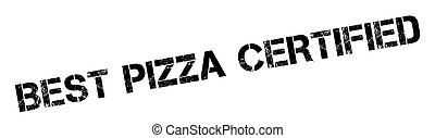 Best Pizza Certified rubber stamp