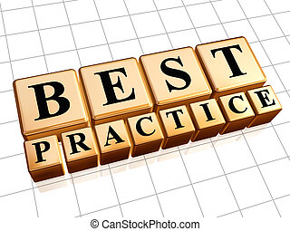 Best practice 3d golden boxes with black letters