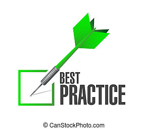 best practice approval check dart sign concept illustration...