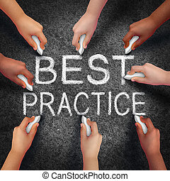 Best Practice - Best practice business concept as a group of...