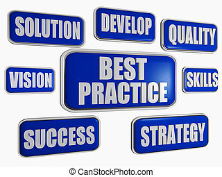 best practice - blue business concept