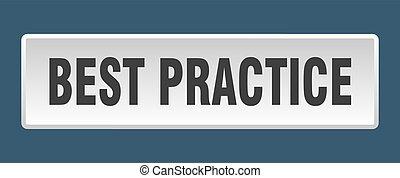 best practice button. best practice square white push button