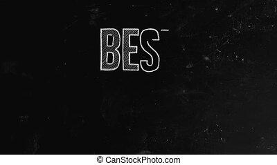 Best practice concept written on blackboard