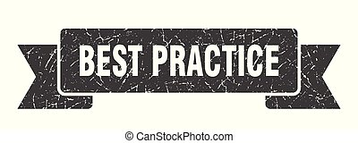best practice grunge ribbon. best practice sign. best ...