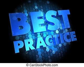 Best Practice on Dark Digital Background.