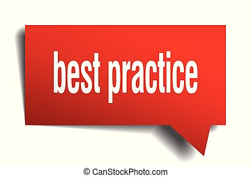 best practice red 3d speech bubble - best practice red 3d...