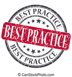 Best practice red grunge textured vintage isolated stamp