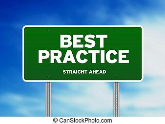 Best Practice Road Sign - Green best practice highway sign...