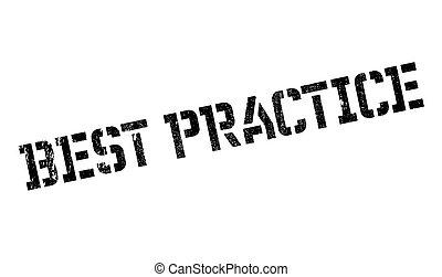Best Practice rubber stamp. Grunge design with dust ...