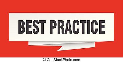 best practice sign. best practice paper origami speech...