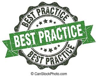 best practice stamp. sign. seal