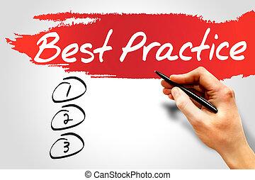 Best Practice blank list, business concept