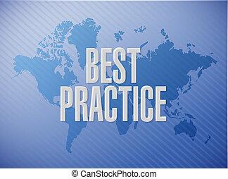 best practice world map sign concept illustration design...