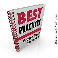 A spiral-bound book offers Best Practices ideads for success, consulting and advice for achieving your goals in business and in life