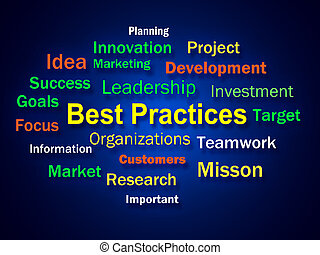 Best Practices Brainstorm Shows Optimum Business Procedures...