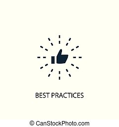 Best Practices icon. Simple element illustration. Best Practices concept symbol design. Can be used for web