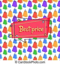 Best Price Advert Banner Seamless Pattern Shopping