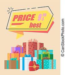 Best Price Advertisement Vector Illustration