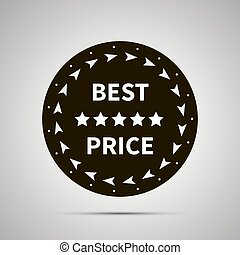 Best price badge simple black icon