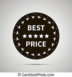Best price badge simple black icon
