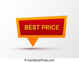 Best Price banner isolated on white.