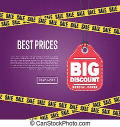 Best price banner with sale sticker