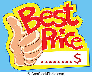 best price - Best price label and show thumb