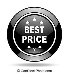 best price black glossy icon