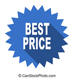 best price blue flat icon