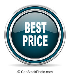 best price blue glossy web icon