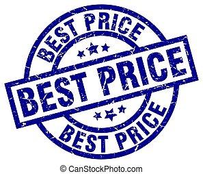 best price blue round grunge stamp