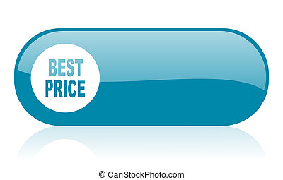 best price blue web glossy icon