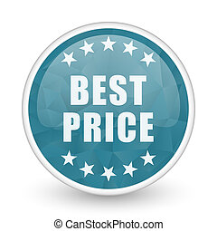 Best price brillant crystal design round blue web icon.