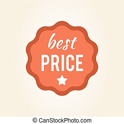 Best Price Circular Sticker on Vector Illustration
