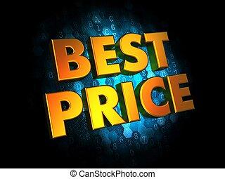 Best Price Concept on Digital Background.