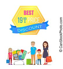 Best Price Discount Label Special Family Offer