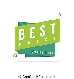 Best price Discount offer price label