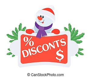 Best Price Discounts Snowman with Sale Poster