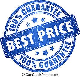 Best price guarantee, vector stamp
