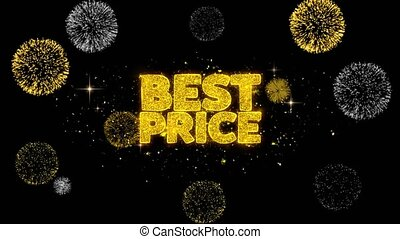 Best Price Golden Text Blinking Particles with Golden...